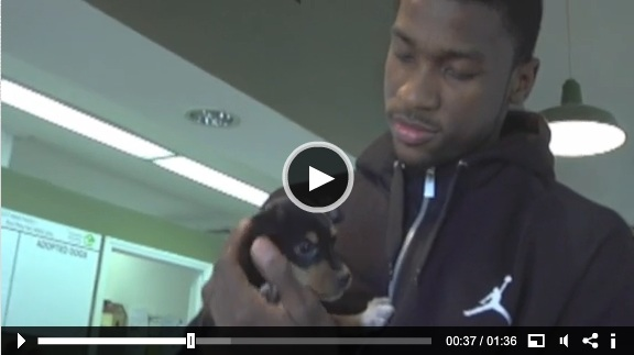 Kidd-gilchrist and his puppy