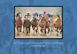 The commerative poster features a photograph of 2004 Derby winner Smarty Jones by John Stephen Hockensmith