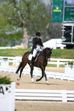 Dressage is one of the three events that riders compete in to win a share of $250,000 in prize money.