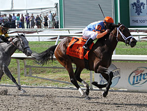 FairGrounds Oak winner Unlimmited Budget Photo courtesy of The Bloodhorse