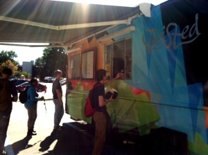 Twisted, the new food truck on campus served students in between Chem-Phys and Funkhouser last Thursday.