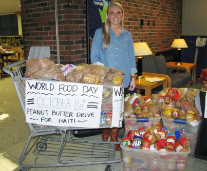 World Hunger Day, peanut butter drive for Haiti