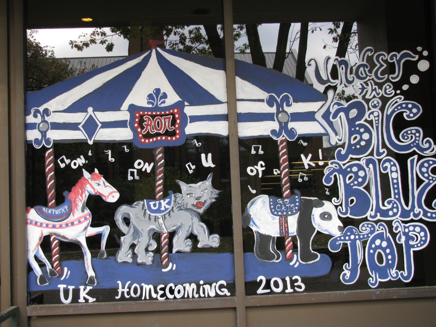 University of Kentucky Homecoming window painting