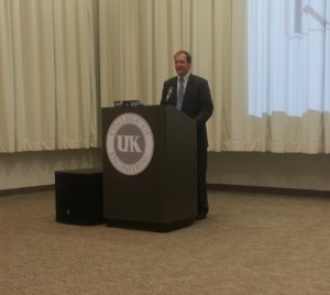 Andy Barr speaks to UK political science students.