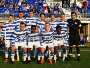 Team Photo The UK men's soccer team defeats Xavier 1-0 in overtime on Tuesday, September 16, 2014 at the Wendell and Vickie Bell Soccer Complex. Photo by Britney Howard | UK Athletics