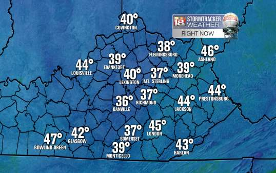 Current temperature map from LEX18.