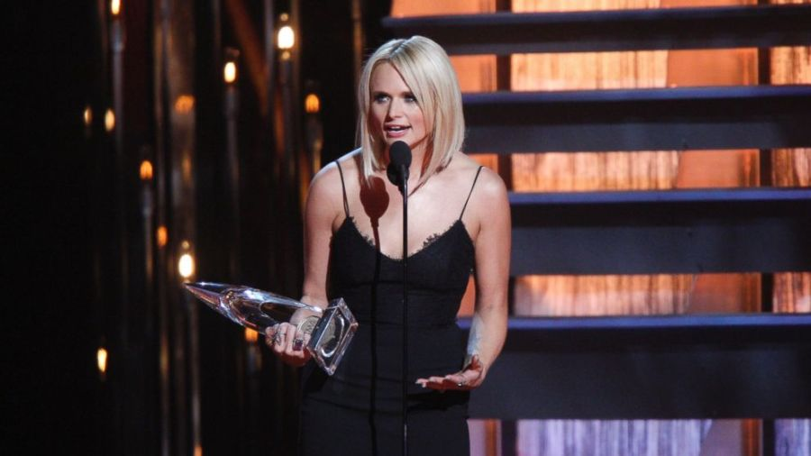 Miranda Lambert accepting one of her CMA Awards. (photo by, Associated Press)